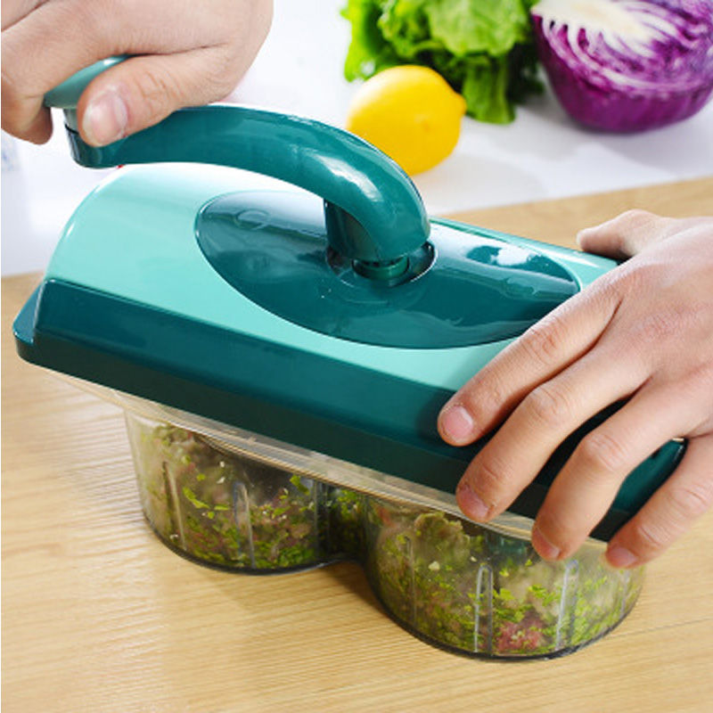 Kitchen Manual Cutting Machine Hand-cranked Meat Pepper Grinder fruit Vegetable Slicer Machine Stainless Steel Kitchen Appliance