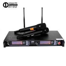 Профессиональный UHF беспроводной микрофон 2 канала караоке система двойной беспроводной микрофон Микрофон передатчик для SKM9000 микрофон Sem Fio