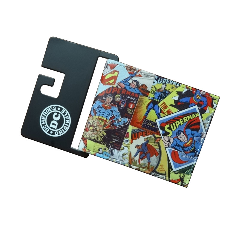 New Arrival DC Comics Superhero Purse Cartoon Anime Superman Batman Joker Wallet Gift Kids Boy Girl Leather Wallets joker wallets hot new style leather purse cartoon anime boy girl students gift dollar bags casual fashion wallet 11 5 9cm