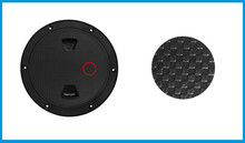Marine Boat 6 inches/153mm Black Screw Out Inspection Deck Plate Hatch Marine bost yacht Detachable Cover RV Plastic DPW6