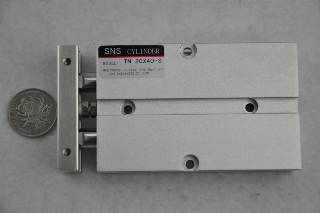 SNS TN20 * 40-S M5with magnetic reed Airtac type  twin rod  guide dual shaft acting guide  air pneumatic cylinder su63 100 s airtac air cylinder pneumatic component air tools su series
