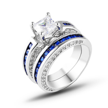2019 Rmantic CZ Ring White Gold Plating Filled Wedding Engagement Rings For Women Top Fashion Jewelry Bridal Sets J02748 bridal sets fashin milky pink ring with white gold plate gift present for women