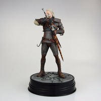 Free Shipping 9 The Witcher 3 Wild Hunt Geralt Dark Horse Deluxe Boxed 24cm PVC Action Figure Collection Model Doll Toy Gift