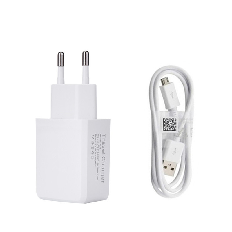 1M micro USB charging Cable + 2A Adapter US/ EU Plug Wall Charger For Samsung S3 N7100 S4 i9500 S6 for m3 m5 note 5 htc lg
