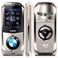 Barato Del Coche En Forma de Teléfono Móvil Del Tirón 760 Tamaño Pequeño Teléfono Celular GSM Dual Tarjetas SIM Soporte de Idioma Ruso y el Teclado