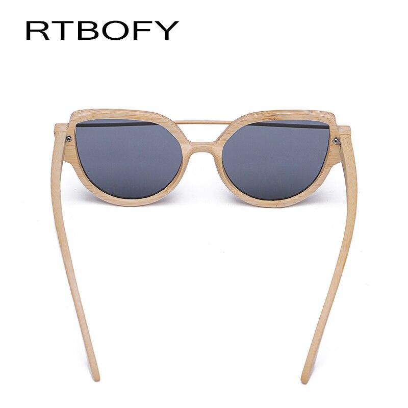 41985223b4 RTBOFY Fashion Wood Cat Eye Sunglasses Women Classic Brand Designer Female  Vintage Fashion Coating Reflective Sun Glasses-in Sunglasses from Apparel  ...