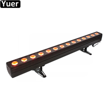 LED Wall Washer Lamp RGBWA-UV 6IN1 14x12W Bar Party Disco Club Light For Landscape Wash Music Stage Effect