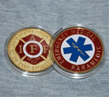 DHL free shipping Emergency Medical Paramedic Challenge Coin- IAFF - Fire Challenge Coin new style hot sale 50PCS/Lot стоимость