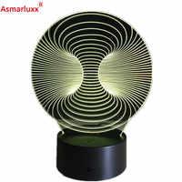 Livraison gratuite 1 pièce créative abstraite 3D lampe de bureau incroyable veilleuse Lampada cadeau de noël lampe de Table Art Image déco lumière