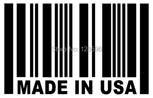 MADE IN USA Barcode Sticker USDM Vinyl for Car Window Decal alice in wonderland wall decal quote cheshire sayings we re all mad here vinyl decal for macbooks laptops car windows etc
