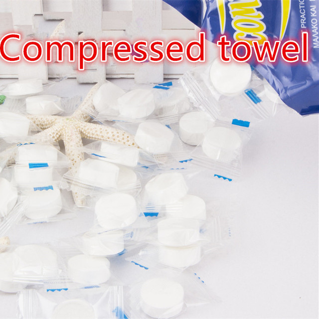 Magic Towel 100pc/lot Mini Portable Face Care Cotton Compressed Towel For Outdoor Travel Health Sports TowelS Easy To Use
