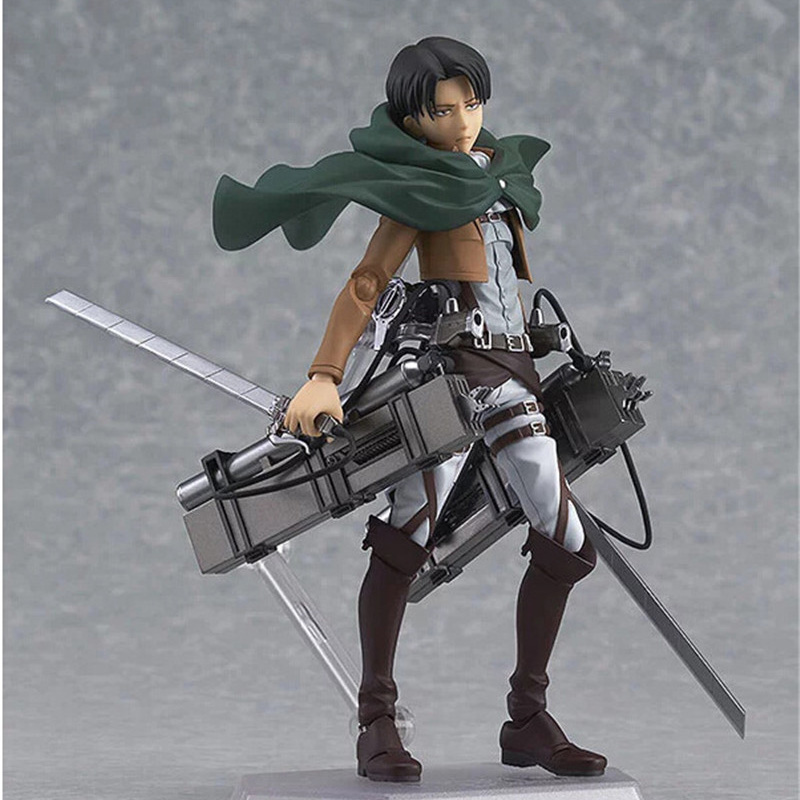 Japanese Attack on Titan Levi Classic Collection 14cm Rivaille Ackerma PVC Figures Collectible Model Toy Action Figure JR003 25cm levi ackerman rivaille li weier soldiers attack on titan trunk standing battle edition pvc action figure model toys