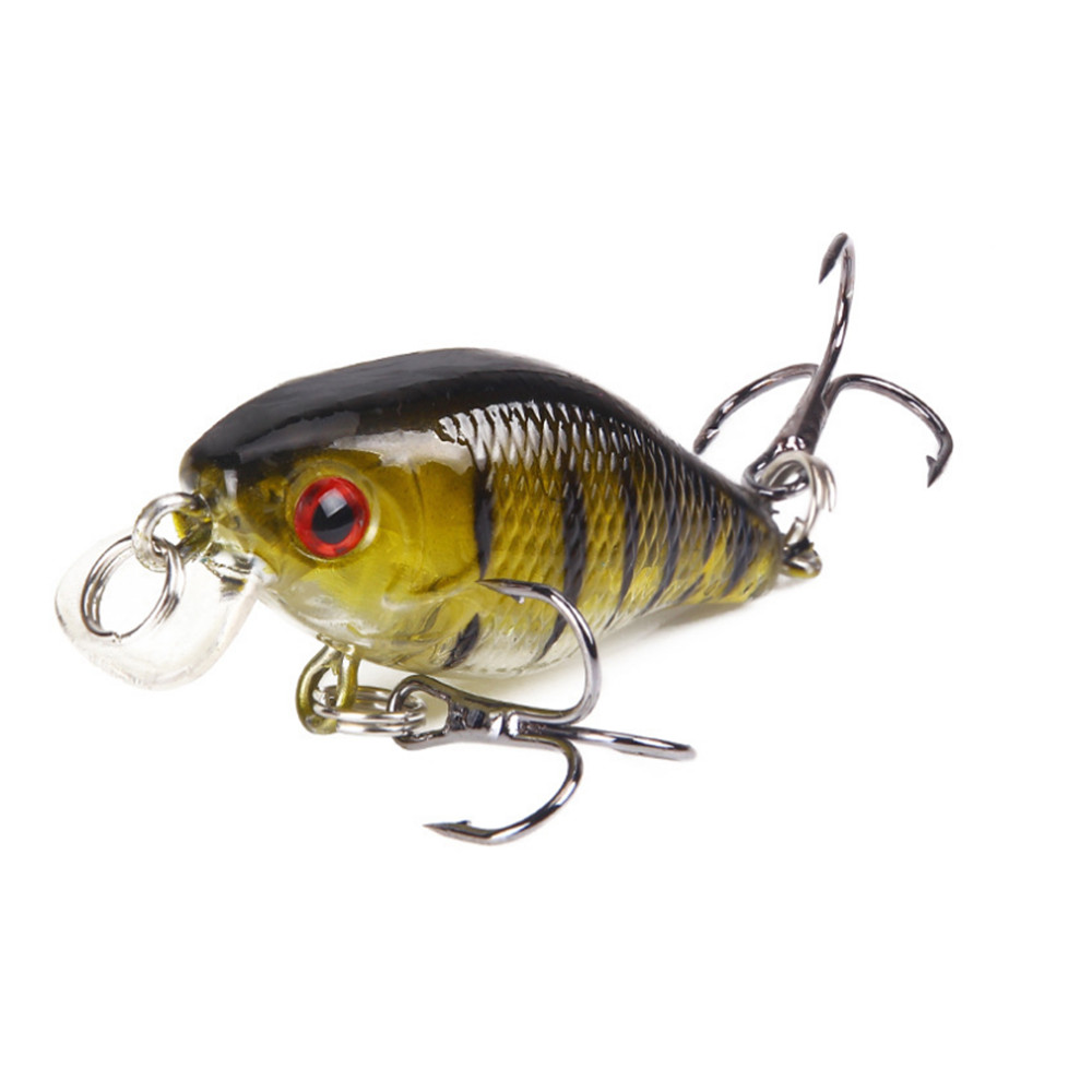 1pcs Wobbler Fishing Lure 3D Eyes 4cm/4.6g Topwater Artificial Plastic Hard Bait Japan Crankbait Carp Fishing Pesca Isca