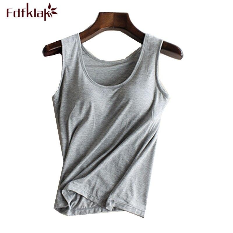 Fdfklak Tank Tops Women Summer Crop Top Cotton T Shirt Sleevelesss Shorts T-shirts Female Soft Crop Tops cropped feminino