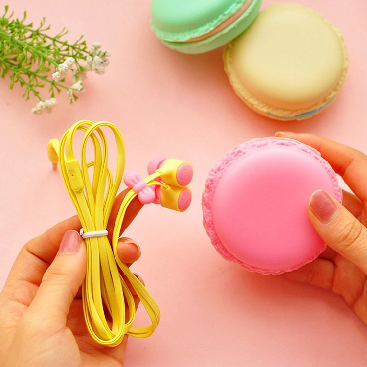 New Macarons Design In-Ear Earphone For Xiaomi Samsung iPhone Cute Earphone For MP3 Player