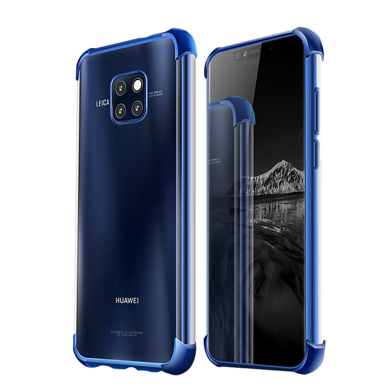 Mate20 3D Laser Elec-plating Airbag Case for Huawei Mate 20 Pro Lite X Case Anti-shock Transparent for Huawei Mate 20X Cover New