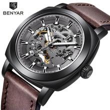 2018 BENYAR Top Brand Luxury Men's Watches Skeleton Business Automatic Mechanical Watch Men Waterproof Sports Wrist Watches все цены