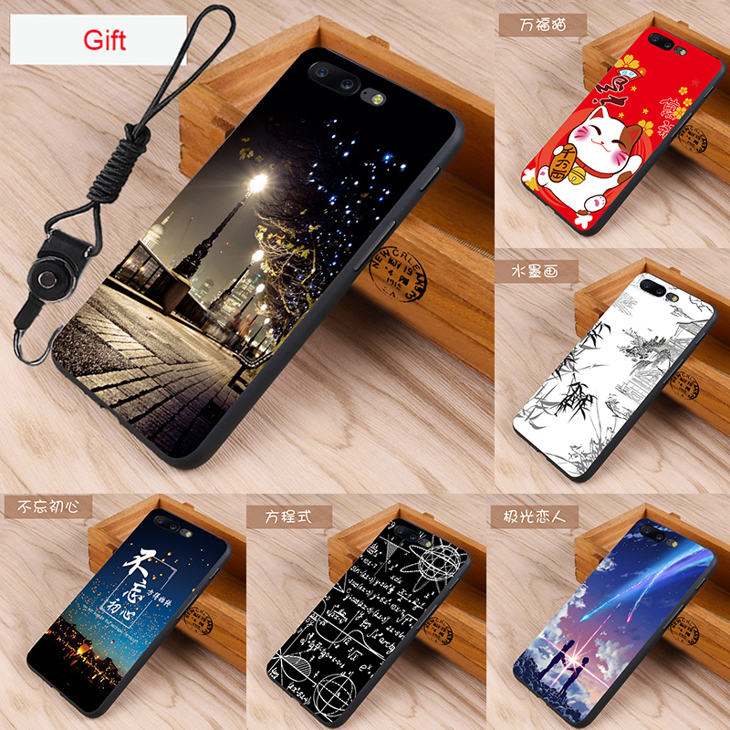 Oneplus 5 Case Original Silicone Cover for Oneplus 5 Bag Case Cover Skin Wolf Fish Skull oneplus 5 Fundas 100% BiNFUL