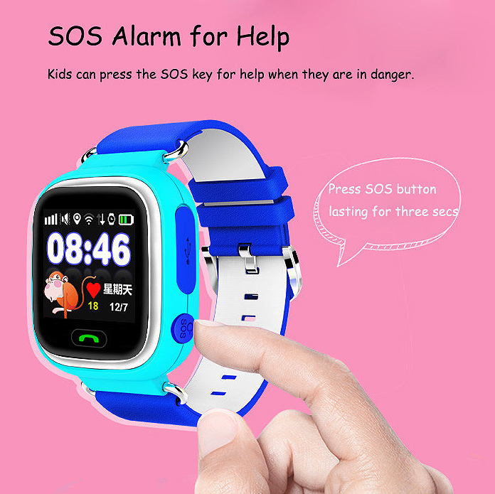 LANGTEK GPS smart watch baby watch Q90 with Wifi screen SOS Call Location DeviceTracker for Kid