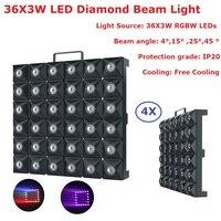 Opakowanie kartonowe 4XLot matrycy LED wiązki światła RGBW Quad kolor 36X3W LED etap efekt Disco światła dla mobilnych dj ów  party  kluby nocne w Oświetlenie sceniczne od Lampy i oświetlenie na