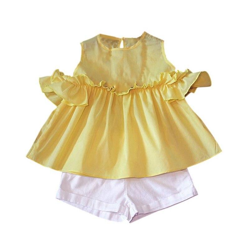 ᗑ2 PCS Bébé D été Enfants Bébé Filles T-shirt Tops + Pantalon ... 3186507ae68