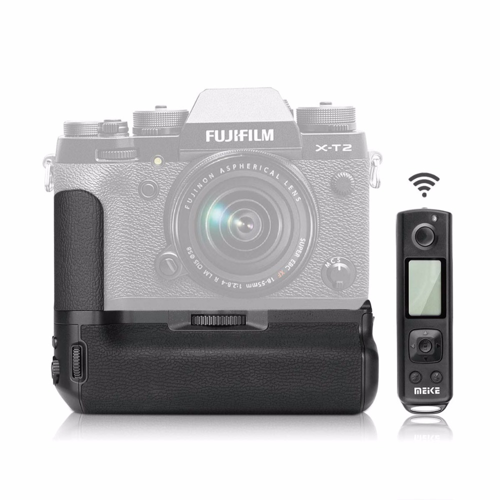 Meike MK-XT2 Pro 2.4GHz Remote Control Battery Grip for Fujifilm X-T2 Camera цена
