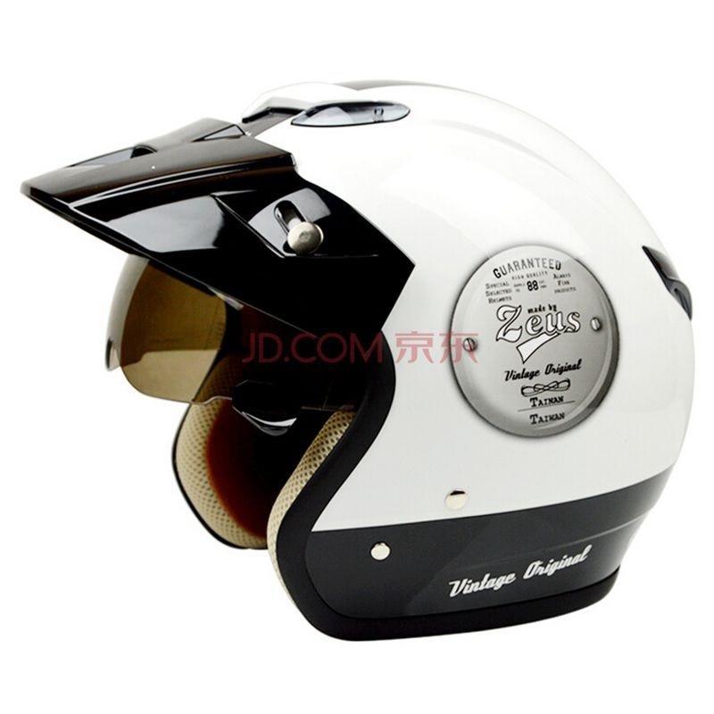 Motorcycle Jet helmet Motorbike motorcross Vintage Casco Capacete open face 3/4 half helmet MOMO style helmet DOT ZEUS 381C цена