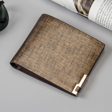 New Ultrathin Business Men Wallets Top Quality Pu Leather Coin Purse Credit Card Holder 2 Fold Wallet Male Short Money Bag W140