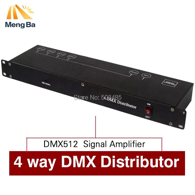 Contrôleur de lumière d'étape DMX512 séparateur de Signal lumineux amplificateur répartiteur 4 voies DMX distributeur pour équipement de scène