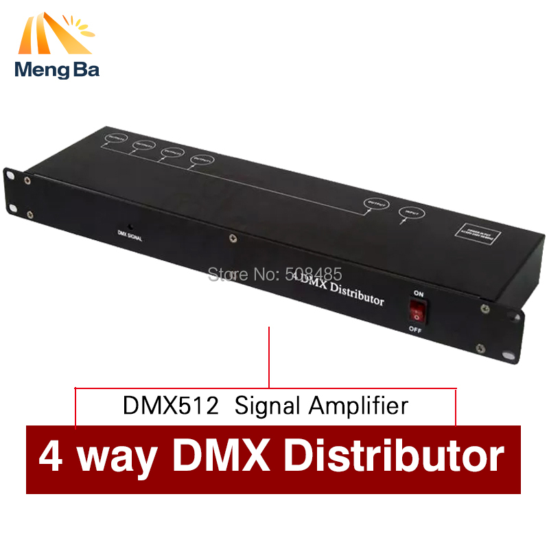 Stage Light Controller DMX512 Splitter Light Signal Amplifier Splitter 4 way DMX Distributor for stage Equipment dhl fedex free shipping best quality 8ch dmx splitter dmx512 light stage lights signal amplifier splitter 8 way dmx distributor