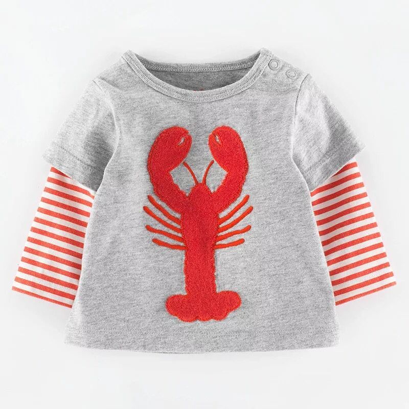 T-Shirt Baby Autumn Middle Long-Sleeved Cotton Child Boy's