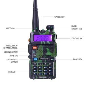 Image 2 - Baofeng UV 5R walkie talkie radio Camou Dual Band Portable Ham Transceiver UV5R Handheld Toky woky use for mountain and ocean