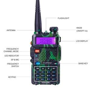 Image 2 - Baofeng UV 5R walkie talkie radio Camou Dual Band Tragbare Ham Transceiver UV5R Handheld Toky woky verwenden für berg und ozean