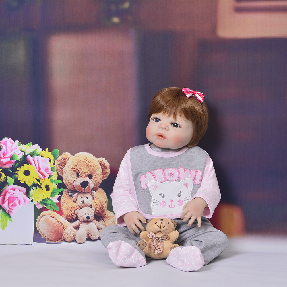 KEIUMI Lifelike 23 Inch Reborn Baby Girl Doll 57 cm Realistic Boneca Reborn De Silicone Baby Toy For Kid Xmas Birthday GiftKEIUMI Lifelike 23 Inch Reborn Baby Girl Doll 57 cm Realistic Boneca Reborn De Silicone Baby Toy For Kid Xmas Birthday Gift
