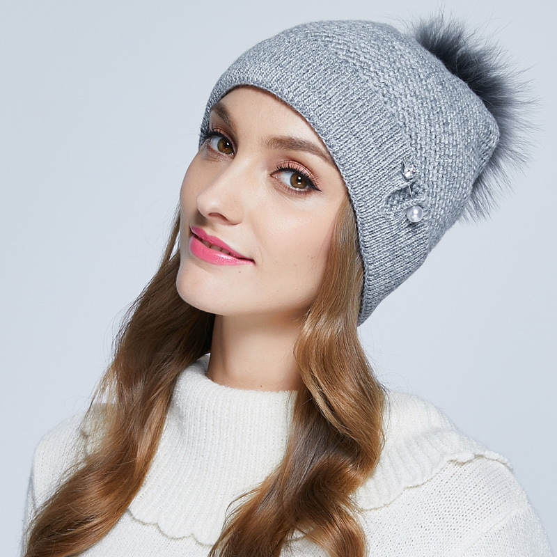 2018 Mask Gorros Women Winter Hat Adult Pom Thermal Thicken Knitted Cap Female Knitted Woolen Hat Casual Beanies Cap B 7332