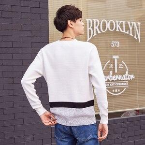 Image 4 - ¡Novedad! Jersey de punto de algodón de manga larga de otoño para hombre de Metersbonwe, ropa de alta calidad