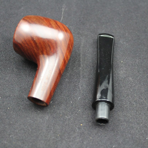 Handmade Nature Solid Red Wood Straight Smoking Pipe Round RoseWood Tobacco Wooden Pipe Gift 10pcs 9mm Filter+Pouch+Holder #083S Multan