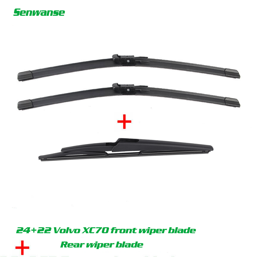 Senwanse Front and rear Wiper Blades For <font><b>VOLVO</b></font> XC90 2004 -07.2006 Windshield windscreen wiper 24