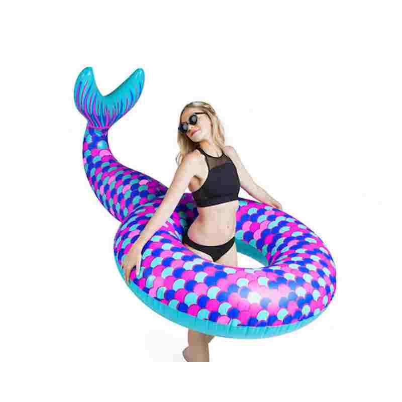 180cm immense mermaid Swimming Ring Giant Pool Float Mattress tail Swimming Circle Adult Beach Summer Water Inflatable toy