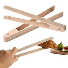 Бамбуковое дерево деревянный еда Тост Кухня щипцы посуда тостер бекон щипцы для сахара салат дома пособия по кулинарии Пинцет хлеб клип тесто