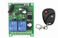 DC 12V DC 24V 36V 48V 10A 2CH RF Wireless Remote Control Switch System Transmitter Receiver Learning code 315/433MHZ