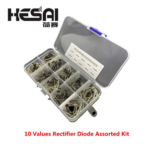 200Pcs 10 Values Rectifier Diode Assorted Kit 1N4001 1N4002 1N4003 1N4004 1N4005 1N4006 1N4007 1N5817 1N5818 1N5819 + Box