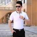 Свободного покроя твердые рубашки поло высокое качество полосатый отложным воротником поло Homme летний новый коротким рукавом тонкий мужчины футболка поло большой размер