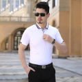 Casual Solid Polo Shirt High Quality Striped Turn Down Collar Polo Homme Summer New Short Sleeve Slim Men Polo Shirts Big Size
