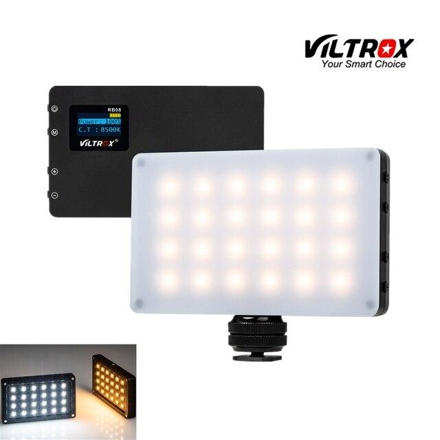 Viltrox RB08 فيديو صغير كشاف ليد محمول ملء ضوء 2500K 8500K للهاتف كاميرا اطلاق النار استوديو ليوتيوب لايف