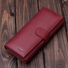 Brand New Women Wallet Genuine Leather High Quality Designer Brand Wallet Lady Fashion Clutch Casual Leather Wallet Women Purse