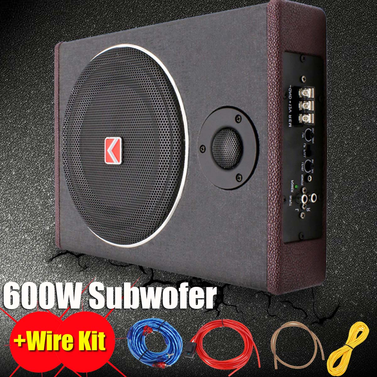 8Inch 600W Active Under Seat Car Subwoofer Speaker Car Audio Speaker Stereo Power Amplifier Subwoofer  Enclosed Subwoofer System8Inch 600W Active Under Seat Car Subwoofer Speaker Car Audio Speaker Stereo Power Amplifier Subwoofer  Enclosed Subwoofer System