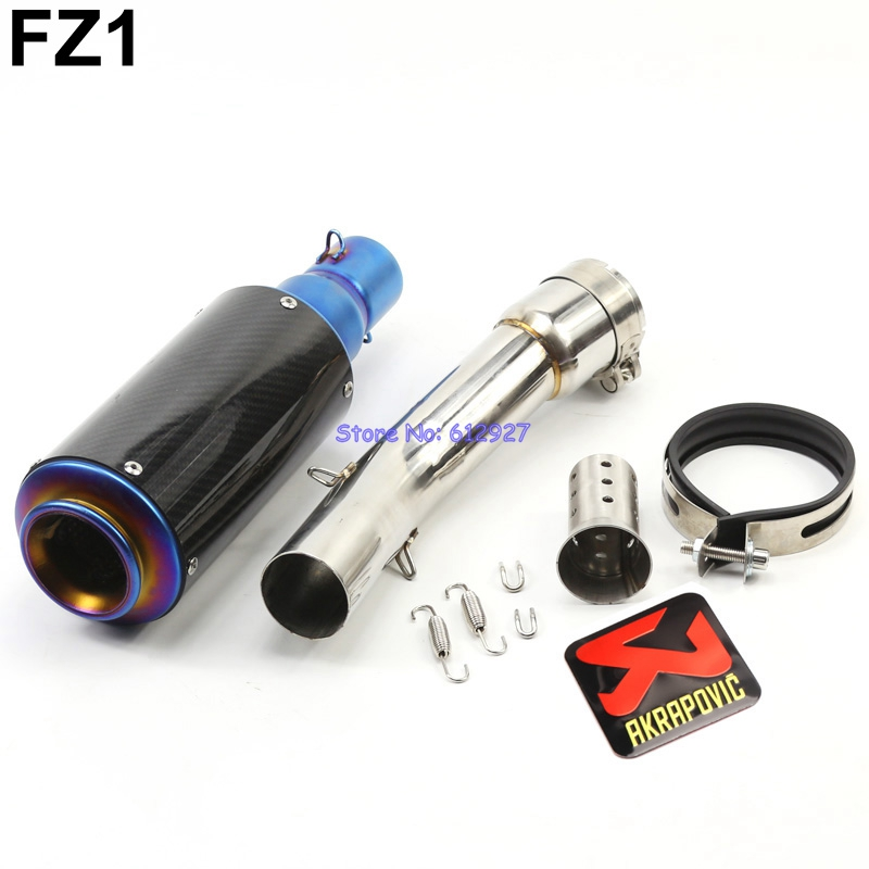 Motorcycle for Yamaha FZ1 FZ1N FZ1000 Exhaust Pipe System Akrapovic Muffler Exhaust Escape and Connector Middle Pipe