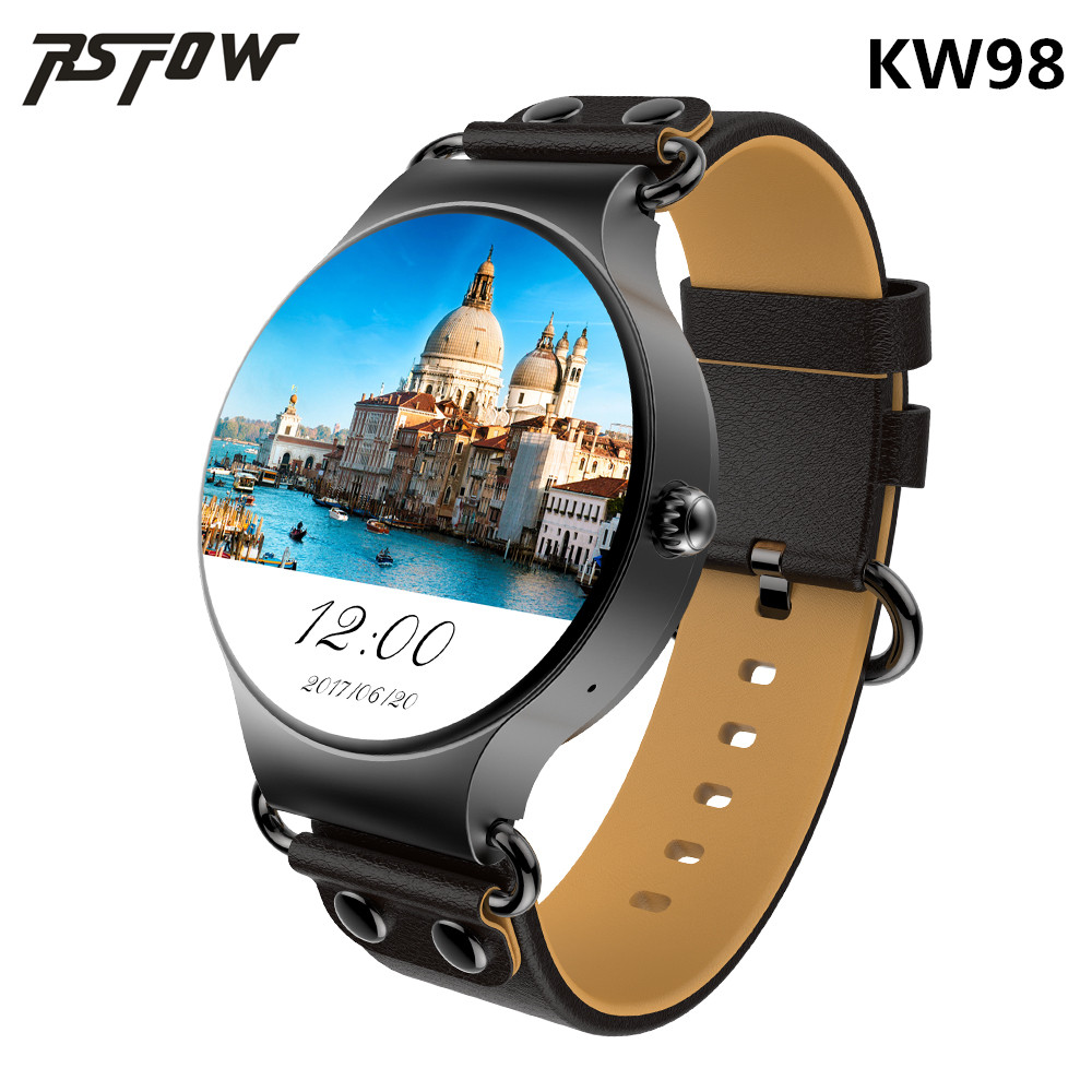 RsFow KW98 Smart Watch Android 5.1 8GB/512MB Wifi GPS Bluetooth Smartwatch Heart Rate Monitor MTK6580 Android Watch For men kktick d6 smartwatch phone android 5 1 heart rate monitor smart watch wifi gps bluetooth 4 0 1 63 inch