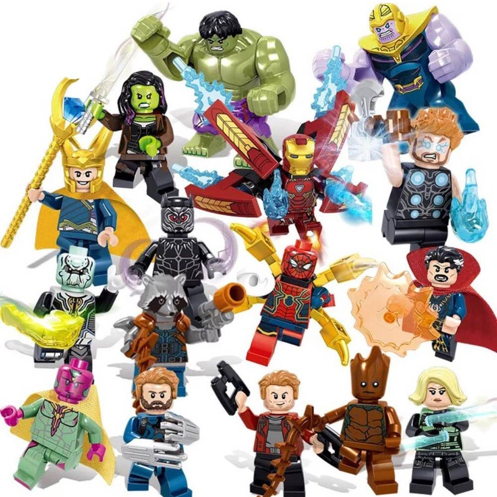 Ingenious Single Santa Christmas Iron Man Spiderman Wolverine Thor Deadpool Captain America Building Blocks Model Bricks Toys For Children Grade Products According To Quality Blocks